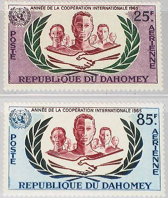 DAHOMEY 1965 253-54 C26-27 ICY Intl. Cooperation Year Men various Races MNH