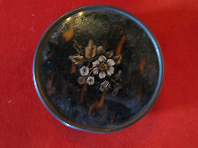 Antique French Hand Decorated Drageé Box w/ Floral Decoration