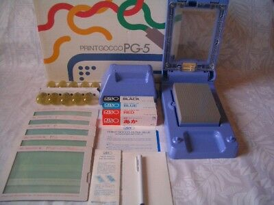 New! Print Gocco PG-5 with 5 Master 10 Lamp 3 ink B6 Screen printer postcard