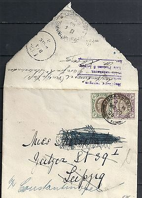 Transvaal 1905 Wandercover to Leipzig re-directed Constantinopel