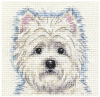 WEST HIGHLAND WHITE TERRIER, dog  ~ Full counted cross stitch kit, all materials