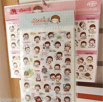 Momoi Sticker Ver.1+2 Diary Planner Scrapbook Book Photo Decor Cute Kawaii Tape
