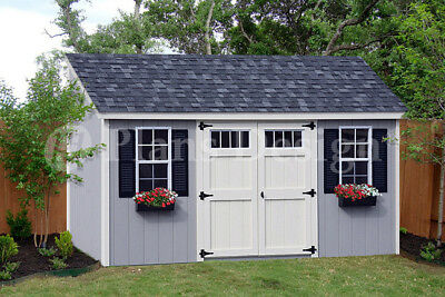 8' x 16' Utility Garden Storage Deluxe Shed Plans, Lean-To Roof  Style #D0816L