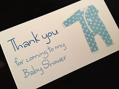 Favour Party Bag Luggage Tags Gift Guest Cards Thank you Baby Shower Boy Blue
