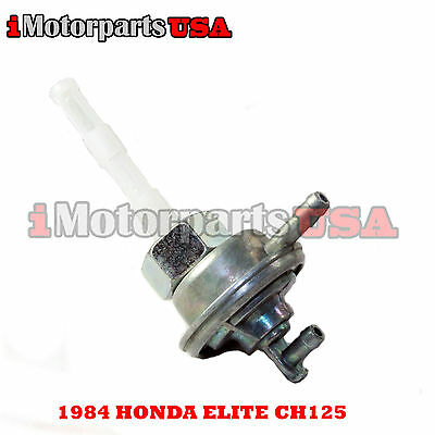 1984 Honda Elite Ch125 Ch 125 Scooter Moped Petcock Assembly Auto Fuel Pump New