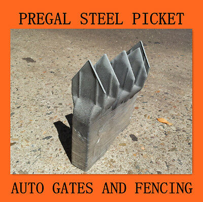 5 x Pre-galvanised 25*25*1.2 crimp top Security pickets 150mm high
