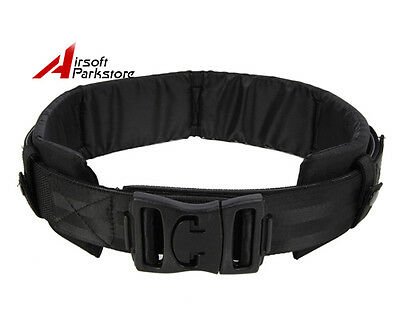 1000D Tactical Nylon Duty Belt With Waist Protection Pad Black