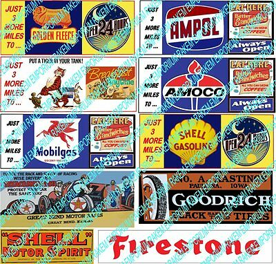 HO Scale Vintage Billboard Signs Model Railway Signs - HOBB1