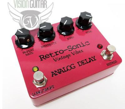 NEW! Retro-Sonic Analog STEREO DELAY True-Bypass (Super Warm DM-2 Tone!)