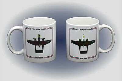 P-61 Black Widow Coffee Mug - Dishwasher and Microwave Safe