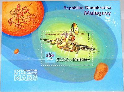 MADAGASCAR MALAGASY 1989 Block 116 S/S 933 Phobos Space Weltraum Mars Expl. MNH