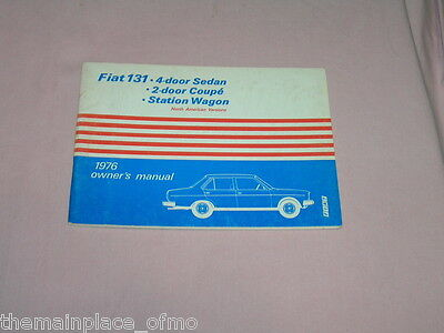1976 Fiat 131 Owner's Manual - Coupe', Sedan, Station Wagon