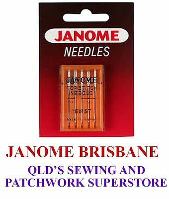 Janome TOPSTITCH Needles Assorted Sizes 11 + 14 Embroidery / Topstitching
