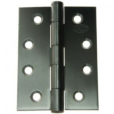 Quality Door Hinge SSH85-F 85x60x1.6mm Fixed Pin Satin Stainless Steel