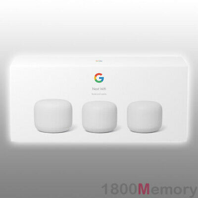 Google Wifi Home Mesh Wi-Fi System Wireless Router 3 Pack 802.11 A B G N AC1200