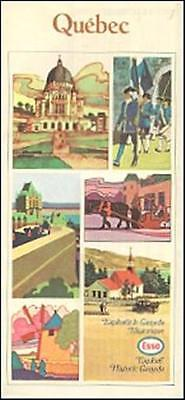1970 IMPERIAL OIL ESSO Road Map QUEBEC Canada Montreal Gaspe Peninsula Magdalen