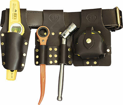 Deluxe Scaffold Tool Belt Set Brown - With Tools - Connell Of Sheffield