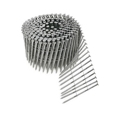 """Simpson S13A200SNBP 2"""" x .090 Stainless Ring-Shank Coil Siding Nails 1200 ct"""