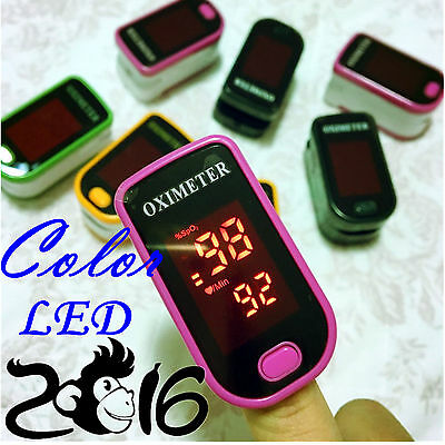 5 color LED oxymeter Monitor Finger Pulse Oximeter Blood Oxygen,PR, SPO2 monitor