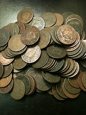☆Large Cent US Penny Cull LOT☆Braided Coronet☆Classic Draped Bust Estate Copper☆