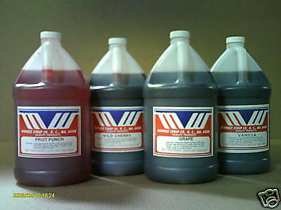 Syrup for SODA STREAM *  - Soda Fountain Syrup - 4  one gallons bottles - Choice