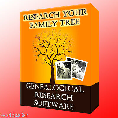 GENEAOLOGY SOFTWARE- Full program to trace your family tree Know your past