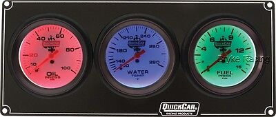 Extreme QuickCar 3 Gauge Panel, Oil and Fuel Pressure, WaterTemp