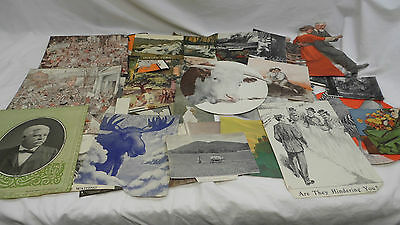 Vintage Print Cutouts! Prints & Photos! A Mixture Of 31! 1900's-1930's! As Is!