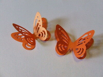 30 3d PEARLESCENT SHIMMER BUTTERFLY Wedding Table Confetti Topper MANY COLOURS