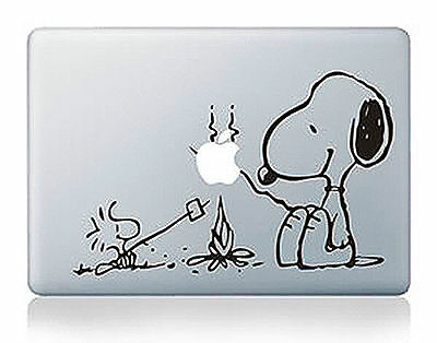 "1x Snoopy Picnic Apple Macbook Air/Pro/Retina 13/15/17"" Vinyl Sticker Skin Decal"
