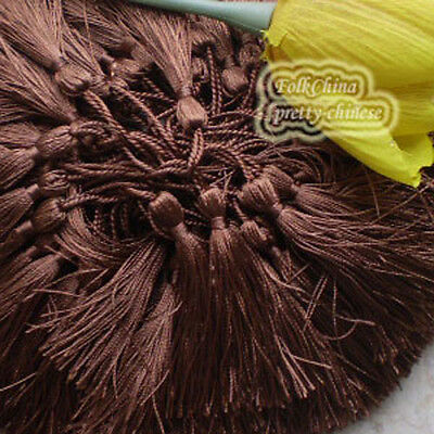 Brown 12cm Tassel Craft Sewing Curtains Trimming Embellishment T2