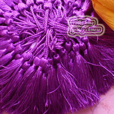 Purple 12cm Tassel Craft Sewing Curtains Trimming Embellishment T10