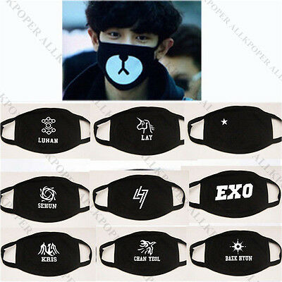 KPOP EXO M Mouth Mask Muffle EXO-M Chen Tao Lay Xiumin Face Respirator Cotton