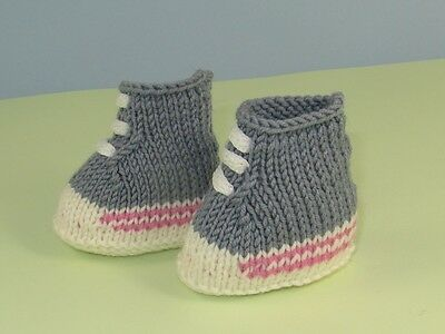 Baby Booties Trainers Knitting Pattern Sneakers Basketball Boots