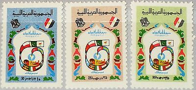 LIBYEN LIBYA 1974 450-52 534-36 12th Intl. Fair Tripoli Emblem Flags Messe MNH
