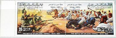 LIBYEN LIBYA 1981 946-47 932 Resistance IT Colonization Battle Ain Zara War MNH
