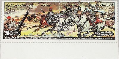 LIBYEN LIBYA 1982 1045-46 987 Resistance IT Colonization Battle Wadi Smalus MNH
