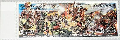LIBYEN LIBYA 1982 1053-4 988 Resistance IT Colonization Battle Sidi Abuagela MNH