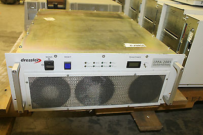 Dressler Lppa 2005 Linear Pulse Pulse Power Amplifier Rf Frequency 185-205 Mhz