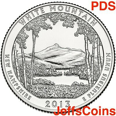 2013 P D S WHITE MOUNTAINS NATIONAL PARK QUARTER Jackson Conway NH 3 coin set