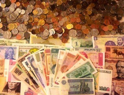 100 World Foreign Coins and 50 Different World Banknotes