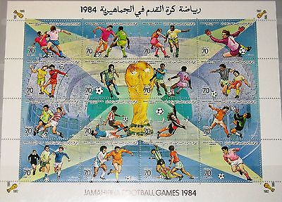 LIBYEN LIBYA 1984 Zd 1363-78 1203 Natl. Soccer CS Fußball Football Player MNH