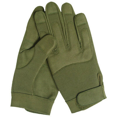 Military Patrol Tactical Combat Army Gloves Clarino Airsoft Shooting Olive Green