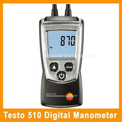 Testo 510 Differential Manometer 0 To 100 Mbar Pressure Meter Gauge (0560 0510)