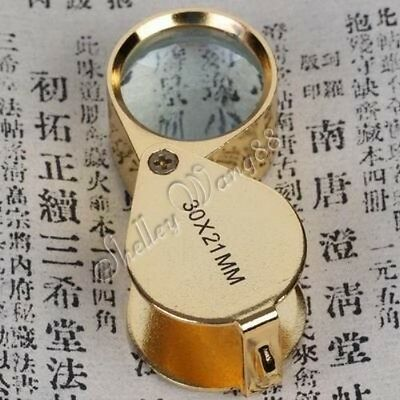 30x 21mm Glass Jewelers Magnifier Magnifying Eye Loupe