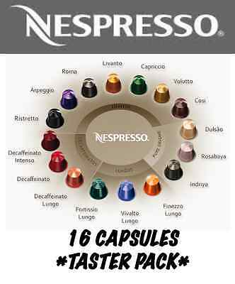 16 Nespresso Capsules Taster Pack *1 of Each Flavour*