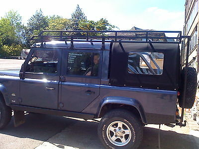 Custom roof rack to fit Land Rover Defender 90 truck cab