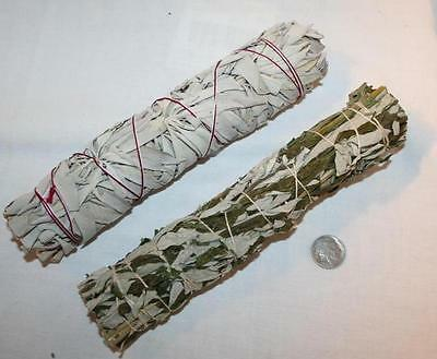 California White Sage & Black Mugwort Dakota Sage Smudge Stick 8 Inch Bundles