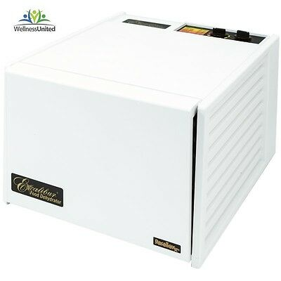 New Excalibur 9 Tray Food Dehydrator 4926T with 26hr timer 2Yr Warranty, WHITE