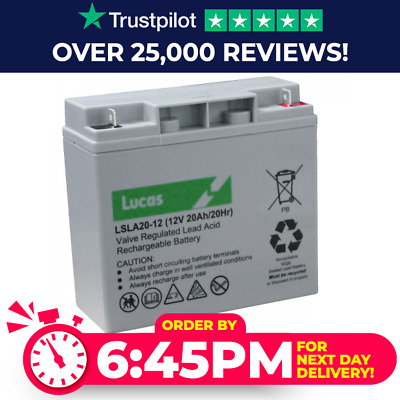 12V 20AH (Replace 17AH, 18AH, 19AH, 22AH,21AH) Lucas LSLC 20-12 AGM/GEL Battery